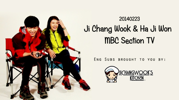 [Eng Sub] 20140223 Ji Chang Wook and Ha Ji Won Section TV interview