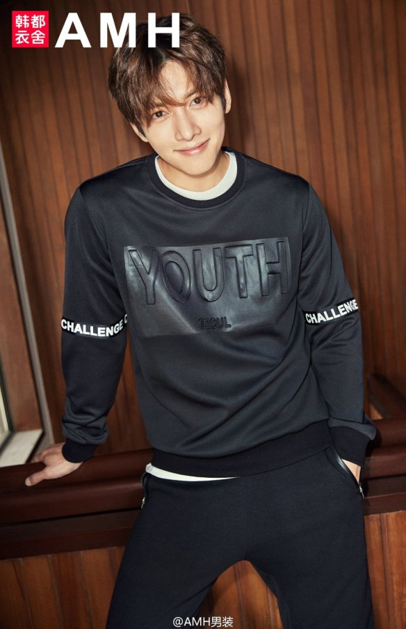 CF] Ji Chang Wook warms up with AMH 2016 Fall/Winter